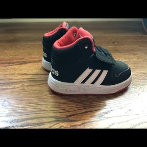 Toddler Velcro Adidas High Tops !